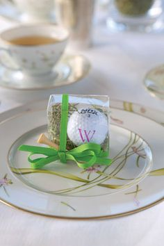 monogrammed golf ball party favor