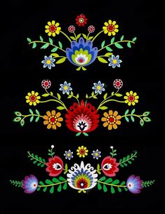 Flores mexicanas Once we approached the Flores & Prats company, we wanted to target on Polish Embroidery, Mexican Embroidery, Folk Embroidery, Embroidery Patterns, Folk Art Flowers, Flower Art, Bordado Popular, Mexican Flowers, Polish Folk Art