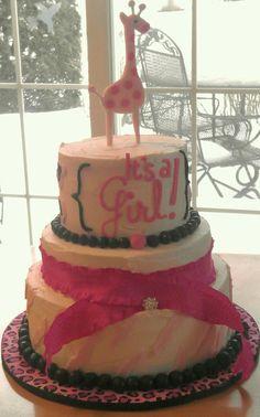 Pink Giraffe baby shower cake Pink Giraffe, Baby Shower Giraffe, Baby Shower Cakes, Baby Time, Celebration Cakes, Cake Smash, Bridal Shower, Cupcakes, Sweets