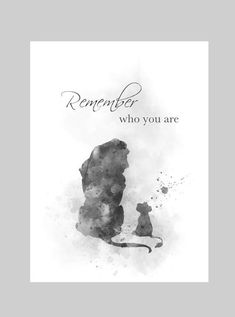 The Lion King Quote ART PRINT Remember who you are, Nursery, Gift, Wall Art, Home Decor, Black and W Lion King Quotes, Lion King Art, Art Prints Quotes, Art Quotes, Quote Art, Finding Nemo Quotes, Wizard Of Oz Quotes, Black And White Lion, Disney Frames