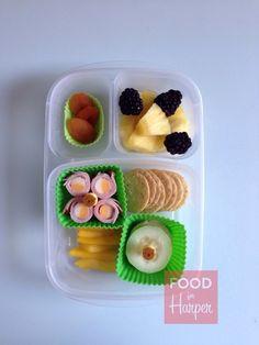Blackberry Pineapple in an @EasyLunchboxes container. #foodforharper #bento #Schoollunch