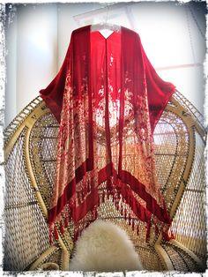 Come on baby light my Fire girl on a vine velvet fringed kimono