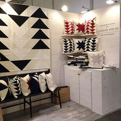My favourite booth @ooak_toronto = @lindsay_stead and her hand quilted pillows! | Flickr - Photo Sharing!