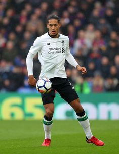 Virgil van Dijk of Liverpool during the Premier League match between Crystal Palace and Liverpool at Selhurst Park on March 2018 in London, England. Liverpool Fc, Liverpool Premier League, Liverpool Players, Liverpool Football Club, Crystal Palace, Van Djik, This Is Anfield, Virgil Van Dijk, Soccer Workouts