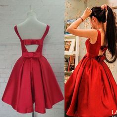 Red Homecoming Dress,Red Homecoming Dresses,Satin Homecoming Dress,Party Dress,Prom Gown, Sweet 16 Dress