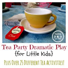 Tea Party Dramatic Play for Little Kids