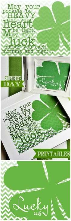St. Patrick's Day Free #Printables... Lucky Us! #stpatricksday