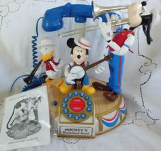 Vintage Disney Dixieland Band Telephone with Mickey Donald and Goofy