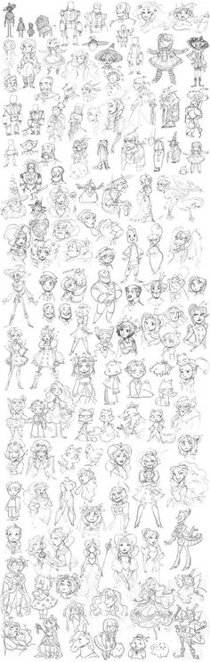 Oz sketches by Xamag.deviantart.com on @DeviantArt