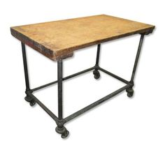 Zinc Kitchen Table | Zinc Top Table Industrial Work Table Kitchen Island  Potting Table   $ ... | Ideas Forhome | Pinterest | Potting Tables,  Industrial And ...