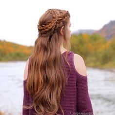 Daenerys inspired braid on Mia - Hair Tutorials Pretty Hairstyles, Braided Hairstyles, Baddie Hairstyles, Medieval Hairstyles, Viking Hair, Viking Braids, Fantasy Hair, Hair Reference, Braids For Long Hair