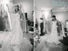 Toronto wedding. Bride getting ready.
