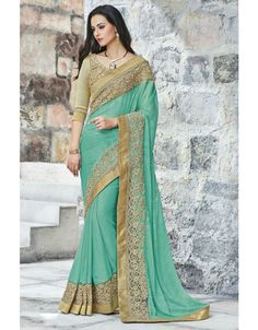 Melodic Mint Green #Saree