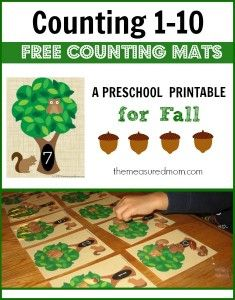 counting 1-10 fall counting mats - the measured mom
