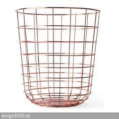Papierkorb Wire Bin von Menu ist schlicht und visuell beeindruckend.