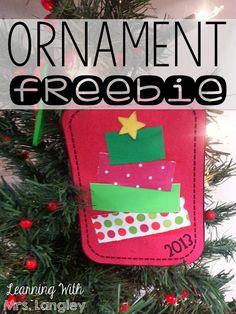 EASY FREEBIE Christmas Ornament!