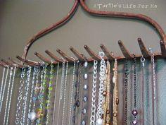 Repurposed Necklace Holder