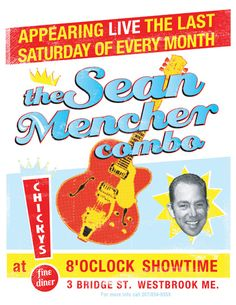 Sean Mencher poster, design by Scott Whitehouse