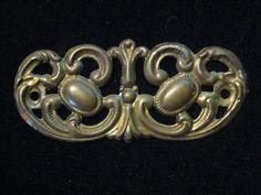 1 Antique Stamped Brass Backplate Escutcheon  by StarPower99, $2.90
