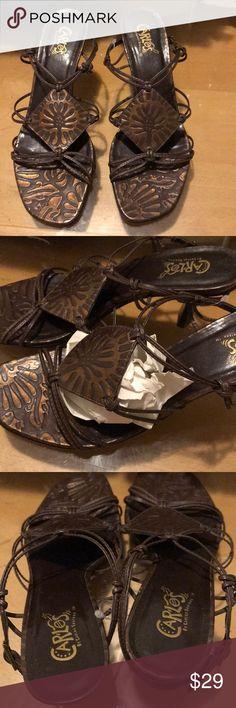 Beautiful Strappy Carlos Santana sandals