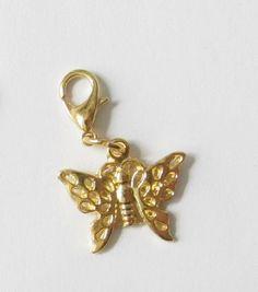 Schmetterling Charms  Anhänger  goldfarben von soschoen auf DaWanda.com