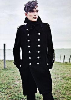 mens navy military pea coat www.phixclothing.com | Mens Style