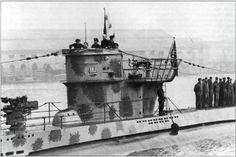 U-83 (Type VIIB) with her 1941 North Atlantic camo paintwork.