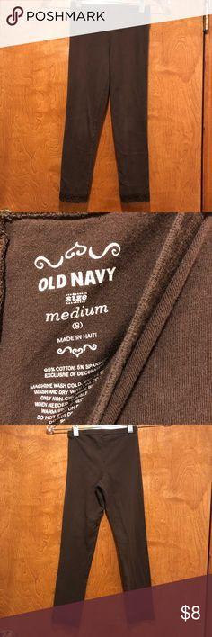 Old Navy Leggings Lace on bottom Old Navy Bottoms Leggings