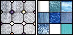 ご新居の玄関とダイニングの間仕切り壁に、あかり取りとしてご依頼いただきました。 ご家族の好きなブルーとフローラガラスのステンドグラスパネルです。ありがとうございました。