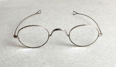 named ANTIQUE SPECTACLES wig glasses vintage lenses with original case holder   eBay