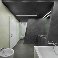 Les teintes grises pour l'intérieur d'une salle de bains design