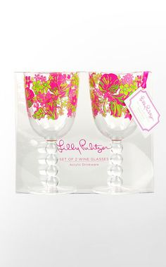 wine glasses for the bridal shower #LillyPulitzer #SouthernWeddings