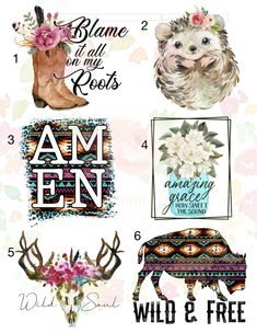 Southern Christian Boots & Hedgehog Waterslide Images \ laser printed / *Waterslide Ready To Use* Vinyl Crafts, Diy Arts And Crafts, Vinyl Projects, Diy Tumblers, Custom Tumblers, Printable Stickers, Wall Stickers, Wall Decals, Vinyl Decals