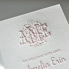 100 flourish monogram letterpress birth by PaperInkPress on Etsy Monogram Fonts, Monogram Letters, Monogram Styles, Lettering, Typography, Letterpress Printing, Paper Goods, Wedding Invitations, Invites