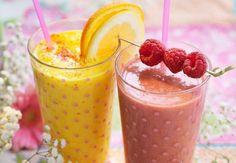Frokostsmoothie: Mango og bringebær