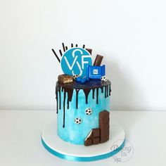 Soccer cake, Football, Fußball, Drip cake, Torte, Verein, Fußballverein