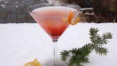 Cranberry Mistletini    3 oz Green Mountain vodka  1 oz cranberry-orange simple syrup  Soda water  Garnish with orange peel    Recipe courtesy Topnotch Resort and Spa.