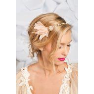 Tessa Kim Golden Feather Headband Aurelia