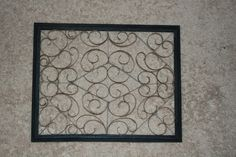 Knocking it off...: Tribute to: Cardboard! (Faux wrought iron wall decor)