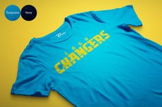 The logo trials continue! 3rd times a charm right? Lets just hope the LOGO Changers, I mean, LA Chargers finally found a winner with this one. Angry San Diego fans and disappointed LA fans, this shirt is for you.  Color Shirt: Turquoise OR Navy Print: Yellow Vinyl  30/1 Combed Ring Spun 100% Cotton CPRS 4.7 oz / 160 gram  SPEC: SLIM FIT SIZE CHEST BODY XS 17.5 25 S 18 27 M 20 28 L 22 29 XL 24 30 2XL 26 31.5 3XL 28 33