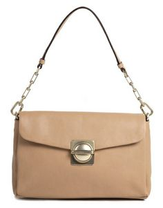 Marc by Marc Jacobs Circle in Square Clutch in Buff Sand