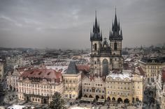 Church of Our Lady Before Tyn - Czech Republic, Europe - Momentary Awe Church Of Our Lady, Prague Czech Republic, Old Town Square, Main Attraction, Tower Bridge, Travel Photography, Castle, Europe, Christian