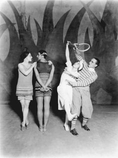 Diaghilev-and-the-Golden-Age-of-the-Ballets-Russes-1909-1929-Leon-Woizikovsky-Lydia-Sokolova-Bronislava-Nijinksa-and-Anton-Dolin-in-Le-Train-Bleu-Photographed-by-Sasha-1924-photo©-VA-images