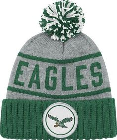 Philadelphia-Eagles-Mitchell-Ness-High-5-Vintage-Cuffed-Pom-Hat
