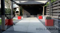 #bestrating #graniet 80x80 #pot 60x60 #rood #grind Ardenner split Grijs 7-14mm #kunstgras Noa 33mm hoog #HOLLANDIAgroengroep