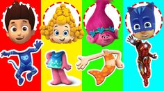 Wrong Heads Bubble Guppies Paw Patrol Dreamcast Trolls Superhero Finger ...