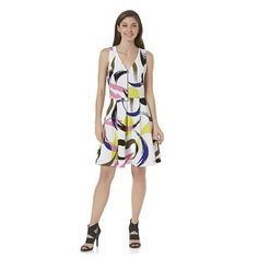 White at weddings is usually a no-no, but in this dress it's the perfect canvas for the fun brushstroke print. Attention Fit And Flare Textured Dress, $26.99; kmart.com.