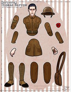 Articulated Paper Doll Corporal Thomas by RivkaZ on Etsy http://www.pinterest.com/pearlswithplaid/paper-dolls-for-real/