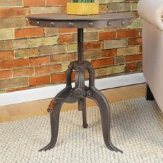 Love being able to adjust the height. #accent #table #furniture #ad