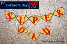Super Father's Day Banner